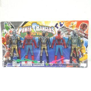 Vỉ đồ chơi 5 anh em siêu nhân (0698B-9)