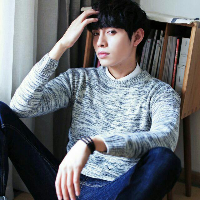 Áo len nam phong cách Hàn Quốc thanh lịch - Áo len cổ tròn
