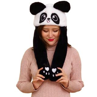Two Yuan Plush Hat Cute Rabbit Airbag Cap Ears Moving Rabbit Cap Panda Cap