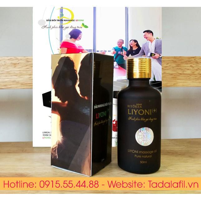 Dầu Bôi Trơn Massage Tăng Khoái Cảm Kích Thích Hưng Phấn LIYONI+ (Hương Nam Tính) Dung Tích 50ml