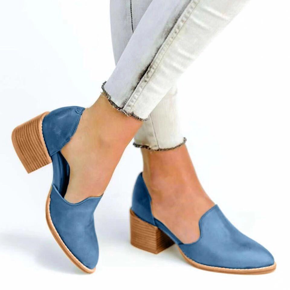Giày bít mũi gót vuông thời trang cho nữ - 14366395 , 2691182788 , 322_2691182788 , 340000 , Giay-bit-mui-got-vuong-thoi-trang-cho-nu-322_2691182788 , shopee.vn , Giày bít mũi gót vuông thời trang cho nữ