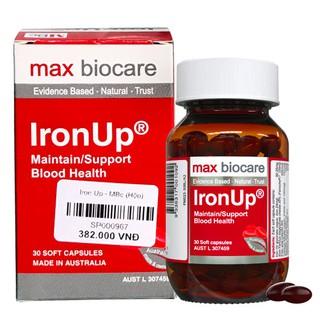 Iron Up – Hỗ trợ bổ sung sắt, bổ máu và hỗ trợ duy trì lượng máu bình thường (Lọ 30 viên)