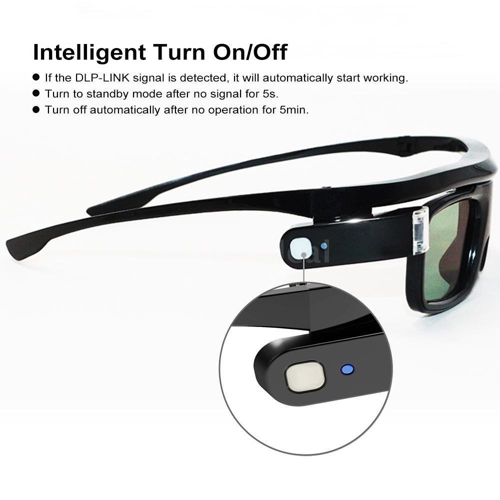 Mắt kính 3D G500 có màn trập tương thích với máy chiếu có thể sạ