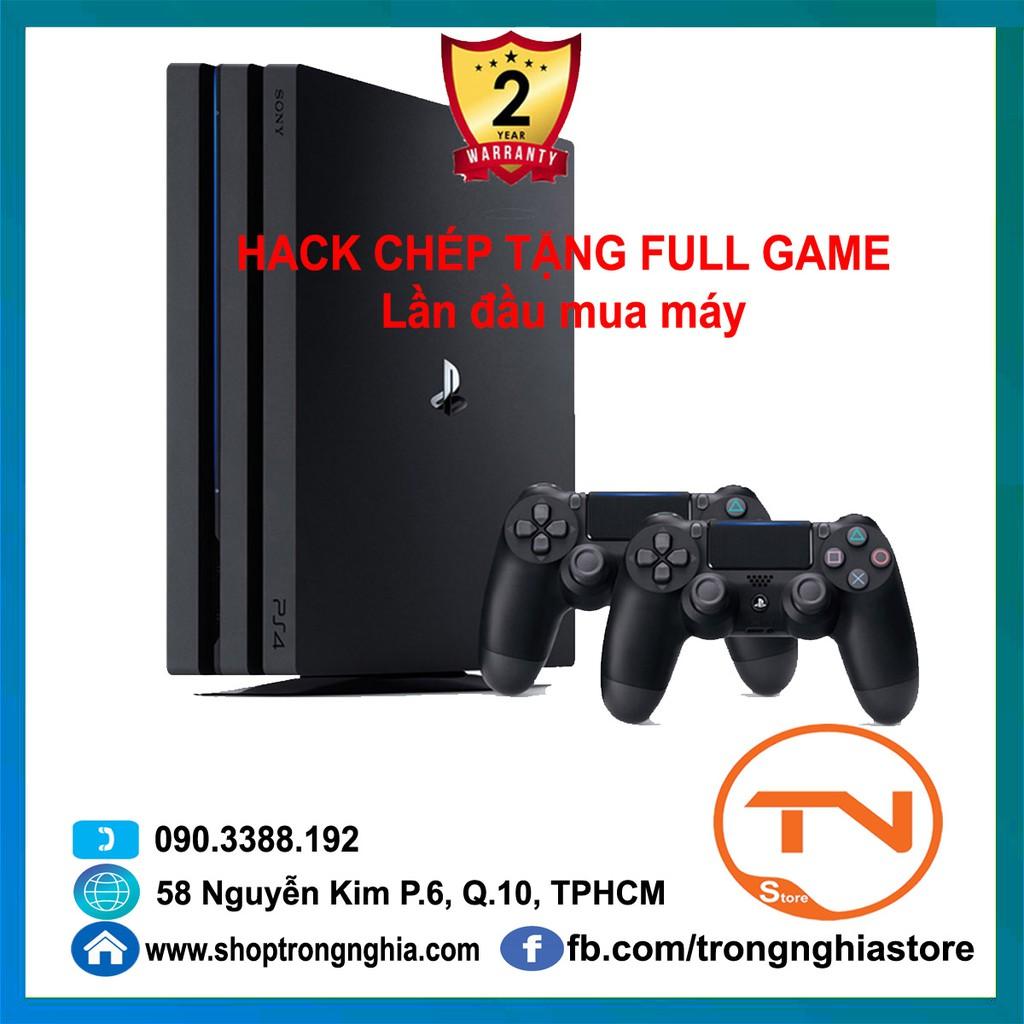 Máy PS4 Pro 7218B 1TB Sony H@CK [Bảo Hành 2 Năm] + 2 Tay Cầm firmware 6.72 (Chép full game)