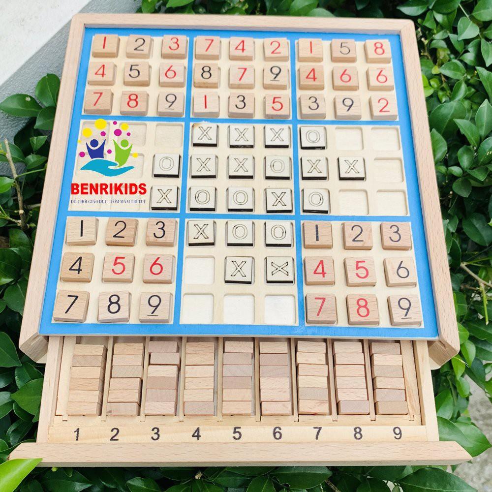 Đồ Chơi Board Game Tư Duy Trí Tuệ Cờ Caro Kết Hợp Sudoku 2 Trong 1 Dành Cho Mọi Lứa Tuổi- Đồ Chơi Gỗ Thông Minh