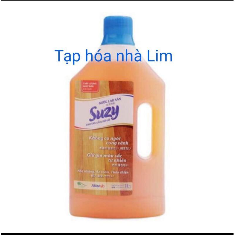 Nước lau sàn gỗ và đồ gỗ SUZY 1L - thành phần HỮU CƠ, chất lượng NHẬT BẢN