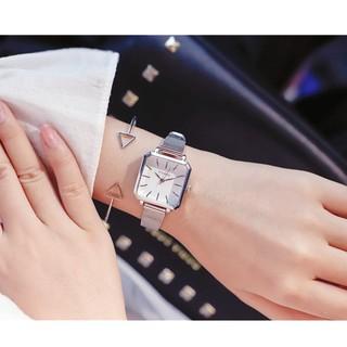 [NEW ARRIVAL] Đồng hồ nữ Ulzzang mặt vuông cá tính - HÀNG CHÍNH HÃNG - dây nhuyễn siêu mỏng thumbnail