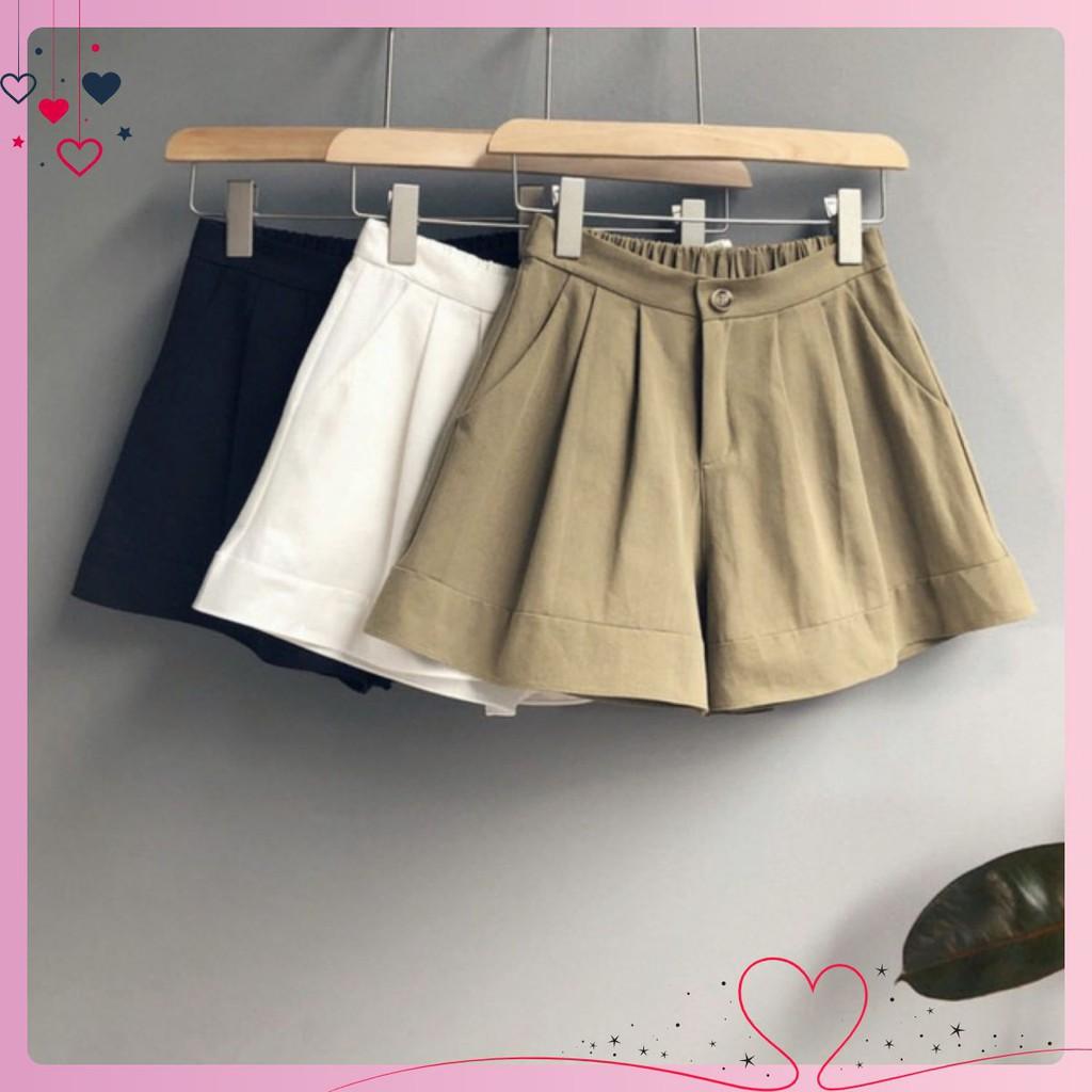 Quần short nữ[freship50k+ Video+ ảnh thật]vải đũi có bigsize 40-80kg,lưng chun, ống rộng thoải mái , form rất đẹp❤️