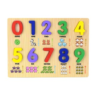 Bảng số đếm bằng gỗ nổi