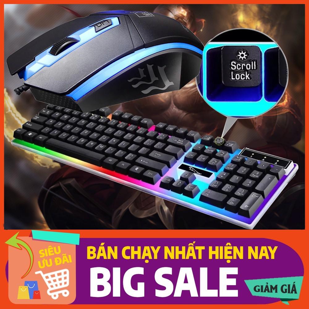 Bộ Bàn Phím Gaming có dây Kèm Chuột Máy Tính Con Báo Có LED 7 Màu Ấn Tượng