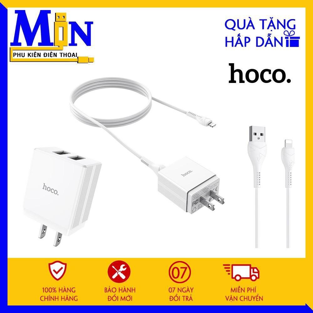 ✔CHÍNH HÃNG✔ Bộ Sạc Nhanh HOCO 2 Cổng Cho Iphone/Android