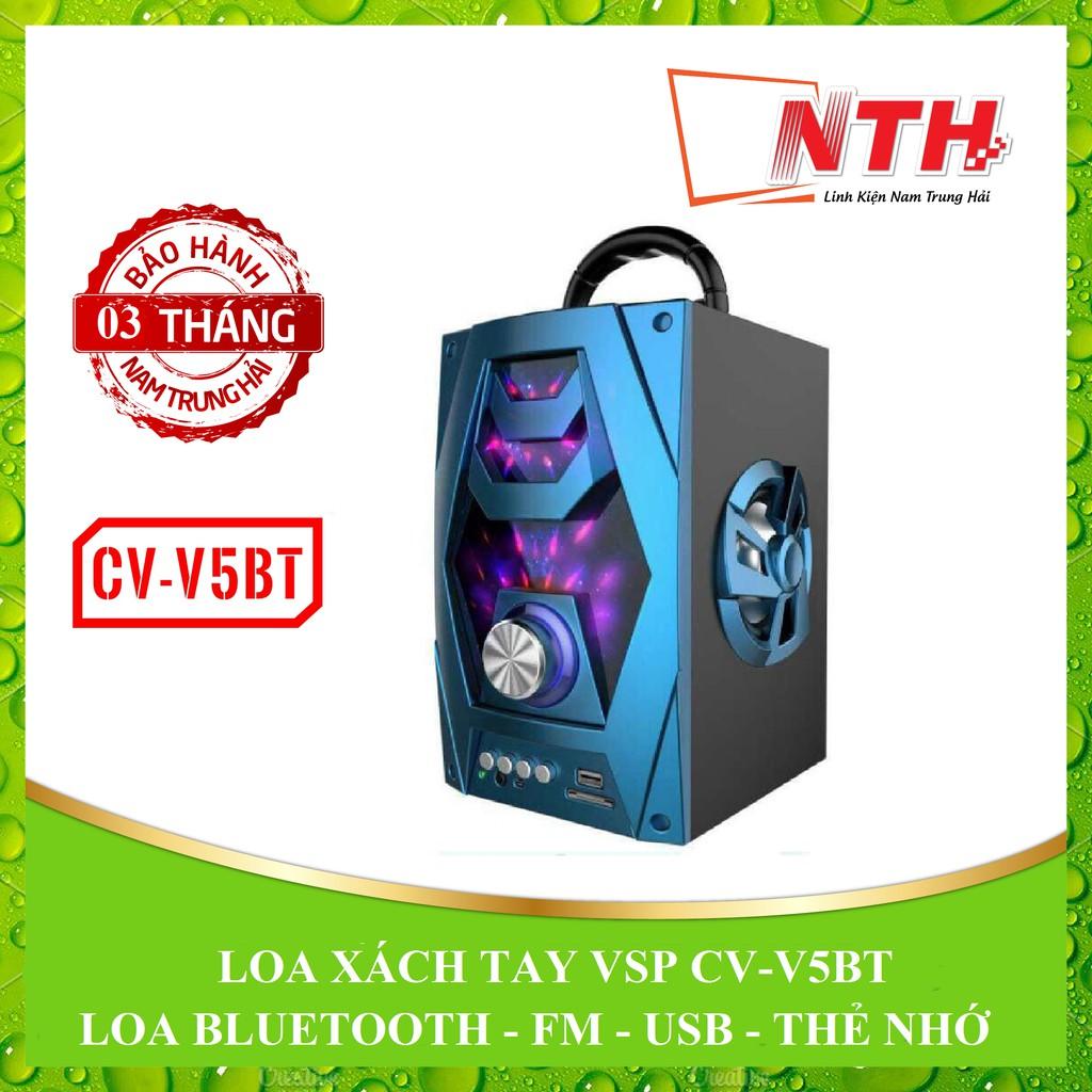 [NTH] LOA XÁCH TAY BLUETOOTH VSP CV-V5BT LED