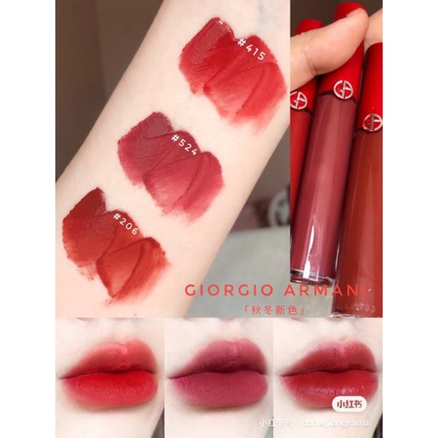 Kết quả hình ảnh cho Giorgio Armani Lip Maestro Liquid Lipstick 524