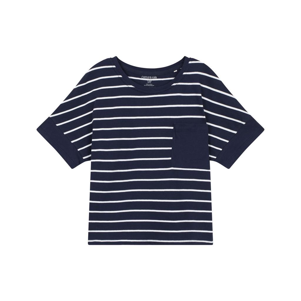 Áo phông kẻ bé gái bộ gia đình 100% cotton USA 1TS18S011 CANIFA