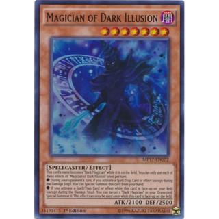 Magician of Dark Illusion-super rare- 1st edition- bài yughioh chính hãng
