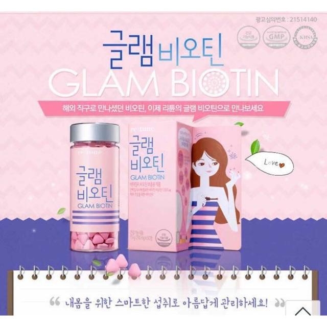 Viên uống hỗ trợ mọc tóc Glam Biotin LG