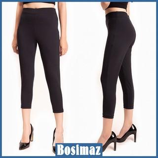 Quần Legging Nữ Bosimaz MS311 lửng không túi màu đen cao cấp, thun co giãn 4 chiều, vải đẹp dày, thoáng mát. thumbnail