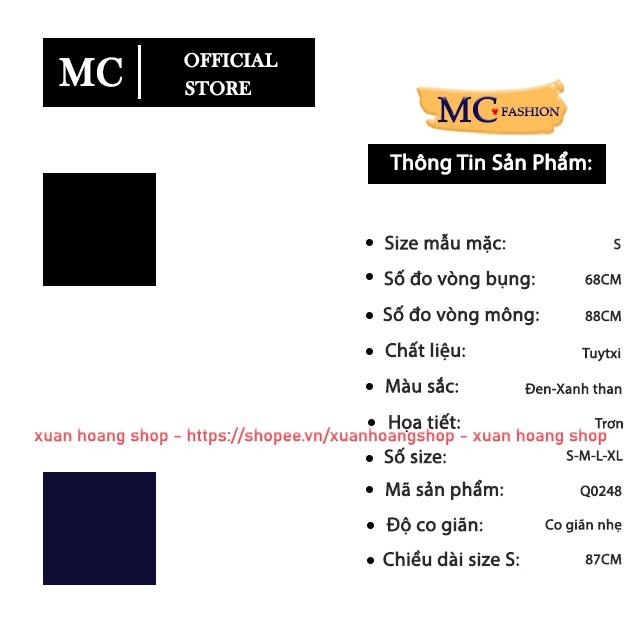 Mặc gì đẹp: Đẹp với Quần Tây Nữ Công Sở Mc Fashion, Ống Côn, Lưng Cao, Dáng Âu, Màu Đen Q0248-Xanh Tím Than