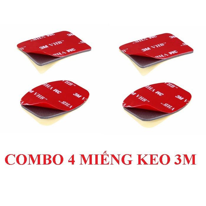Combo 4 Miếng Keo 3M Keo Dán 2 Mặt Siêu Dính Dán Đế Camera Hành Trình