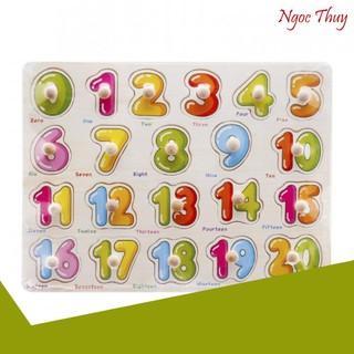 [SIÊU KHUYẾN MẠI] Bảng ghép hình bằng gỗ bảng số đếm 0-20 cho bé yêu siêu rẻ
