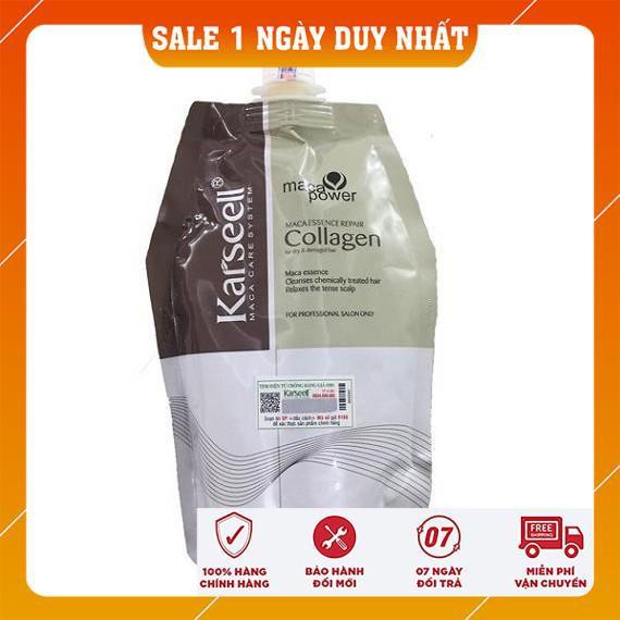 Ủ Tóc Collagen Karseell 500ml Siêu Mượt Phục Hồi Tóc Hư Tổn, Cấp Ẩm, Dưỡng Tóc Mềm Mƀ