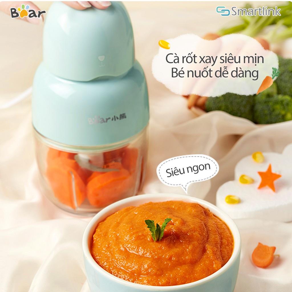 Máy xay thực phẩm mini Bear QSJ-B01P1 - Phiên bản Quốc Tế Chính Hãng BEAR bảo hành18 Tháng