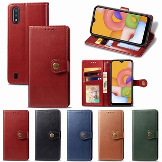 Csing For Samsung A32 A52 A72 A42 A02 M01 A01 M11 A11 A21 A31 A41 A51 A71 5G Leather Wallet Flip Stand Case Card Magnetic Closure Back Cover