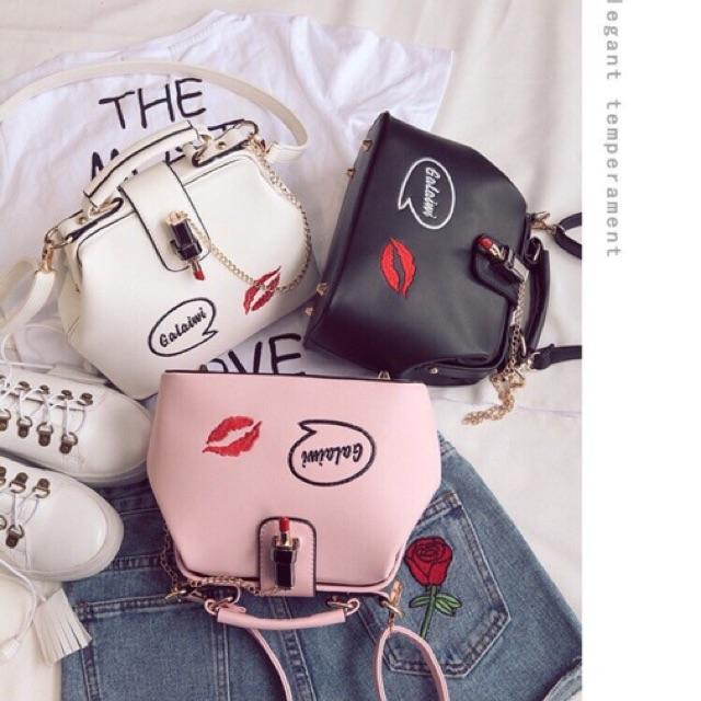 Túi xách thời trang Galaiwi Thêu Họa Tiết So