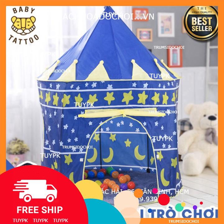 LOẠI 1- Đồ chơi Lều lâu đài Hoàng Tử Công Chúa cho trẻ em, đồ chơi bé gái, trai quà tặng sinh nhật