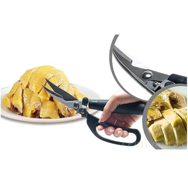 Kéo cắt thịt gà luộc, gà rán, thịt ngan, vịt LOẠI XỊN