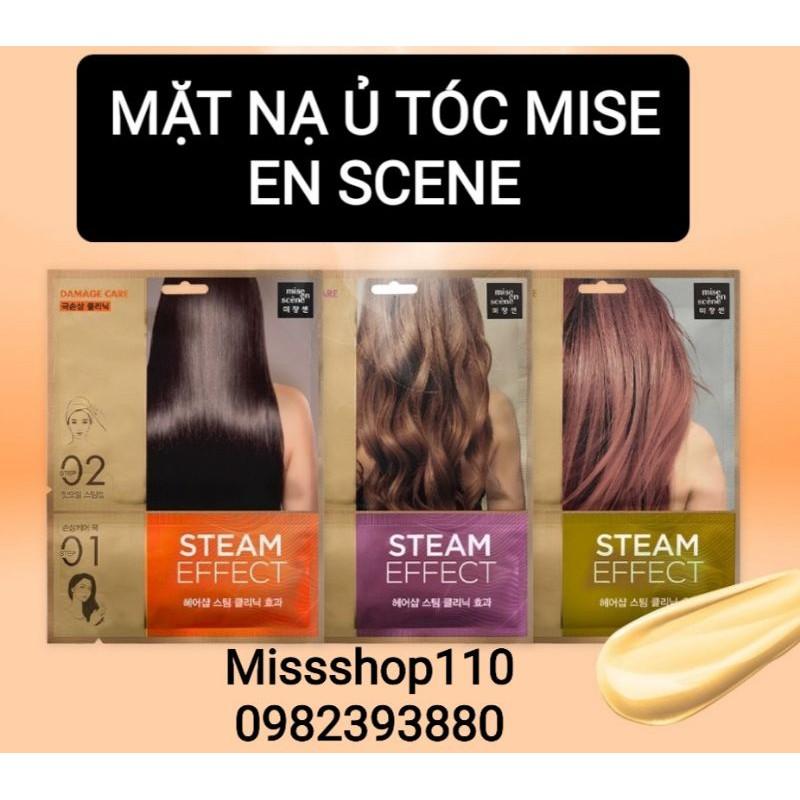 Mặt Nạ Tóc Mise en Scene Perfect Steam Hair Mask Pack 15ml Blackpink