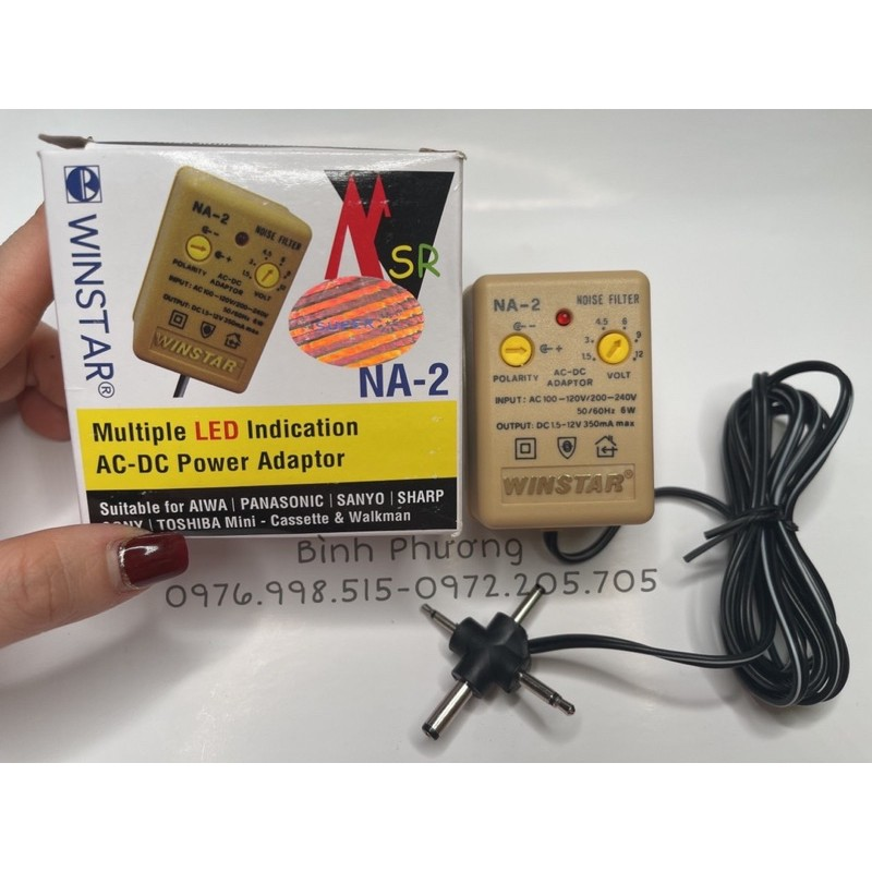 Ổn áp Na2-Cục sạc adapter Winstar chuyển đổi dành cho máy phun xăm