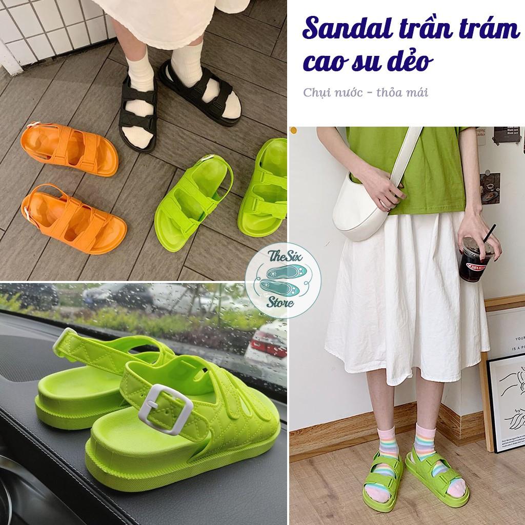 Sandal trần trám cao su dẻo