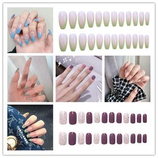 Bộ 24 móng tay giả kèm keo dán dành cho trang trí móng tay nghệ thuật thumbnail