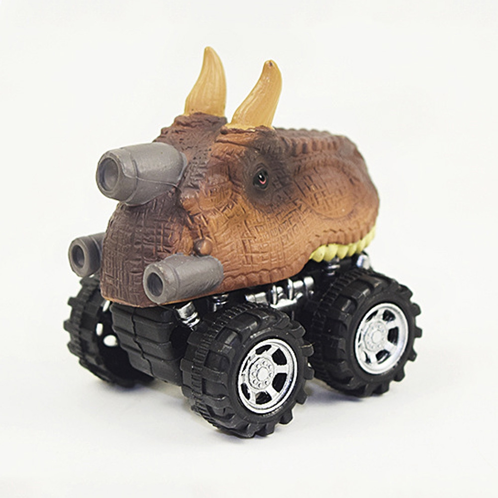 Gift Kids Birthday Children Action Back Home Simple Toy Model Racing Artificial Dinosaur Car Truck Mini