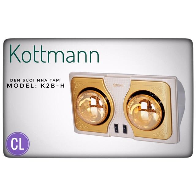 Hàng chính hãng - Đèn sưởi nhà tắm Kottmann 2 bóng vàng K2B-H