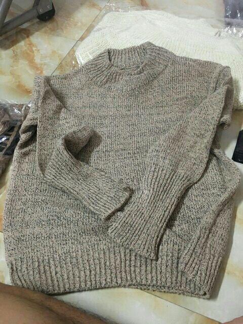 Áo len nữ cổ 3p tay lật cực hot