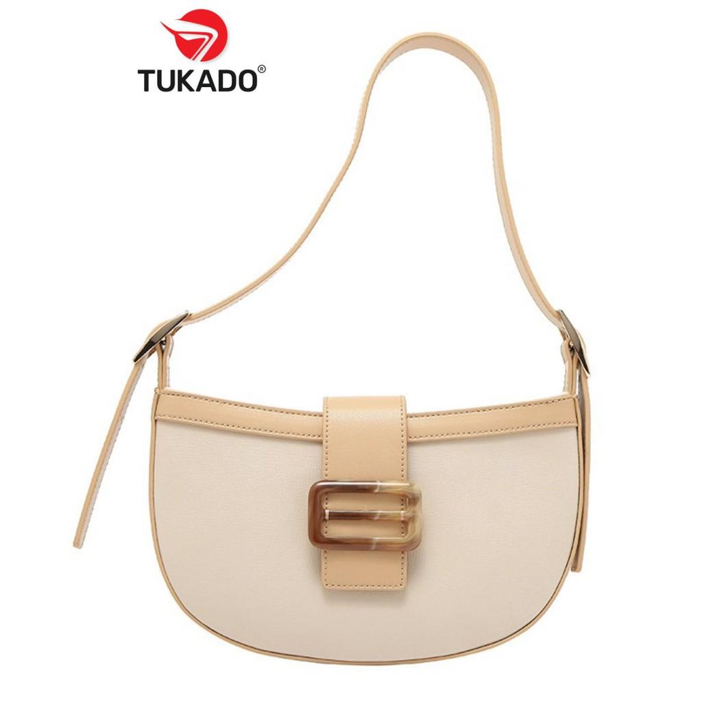 Túi Đeo Chéo Nữ Đeo Vai 𝐌𝐈𝐂𝐎𝐂𝐀𝐇 Thời Trang Phối Màu Vintage Cực Đẹp MC14 - Tukado