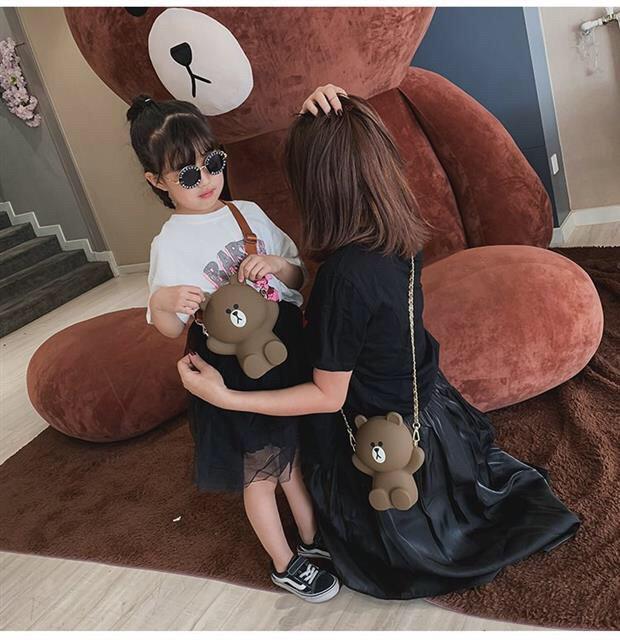[Mã WBMAX20 giảm Giảm 20% tối đa 20K đơn Bất kỳ] Túi đeo chéo gấu Brown loại ĐẸP 2Dây đáng yêu DC102