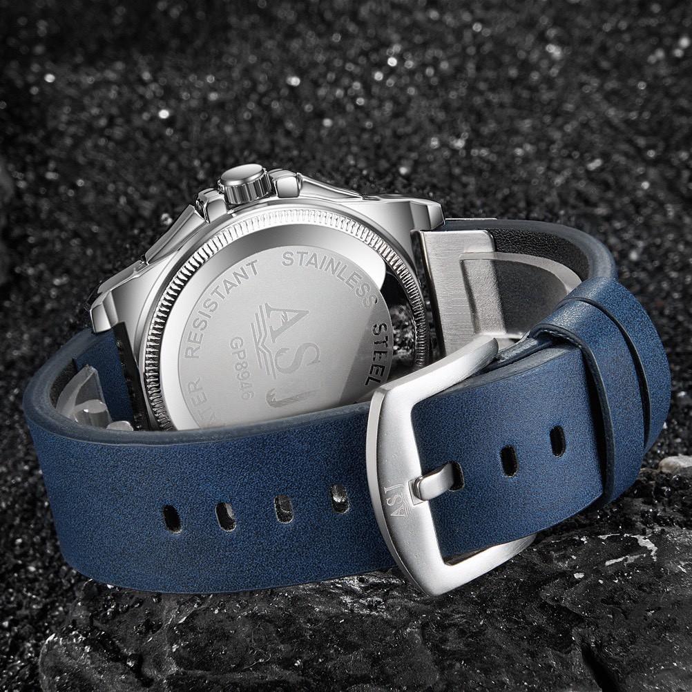 Đồng hồ nam ASJ máy Nhật chính hãng Full box