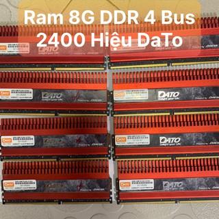 DDR4 Ram 8G - Bus 2400 Hiệu Dato Tản Nhiệt Thép Tản To Màu Đỏ - Vi Tính Bắc Hải thumbnail