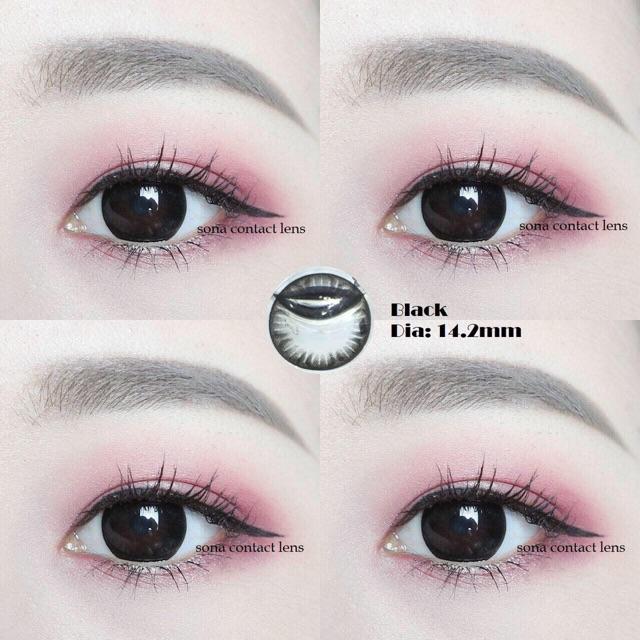 Kính áp tròng cận 1 - black lens