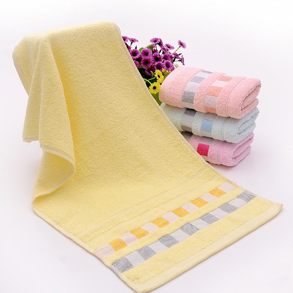 5pcs / 1pc Khăn Tắm Vải Cotton Mềm Mại Thấm Hút Nước Tối Đa Dùng Tại Nhà Hoặc Khách Sạn
