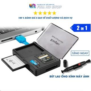 Đầu đọc thẻ nhớ tích hợp hộp đựng thẻ nhớ – Hỗ trợ thẻ SD / CF / Micro SD – Tốc độ 3.0 – Full HD Shop