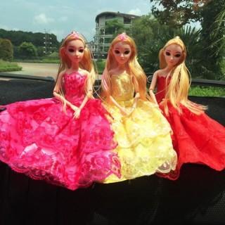 Búp bê cho bé kèm 2 set tô màu, bút dạ và set thổi bóng - Búp bê công chúa nối khớp thumbnail