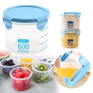 Hộp nhựa bảo quản thực phẩm, đựng đồ nhà bếp 600ml