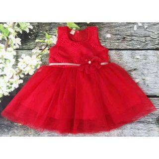 Váy công chúa ren đính hoa hàng thiết kế cao cấp size 1-12t
