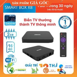 Android Tivi Box 4K Asanzo X8 Ram 2G Rom 16G – Chính hãng