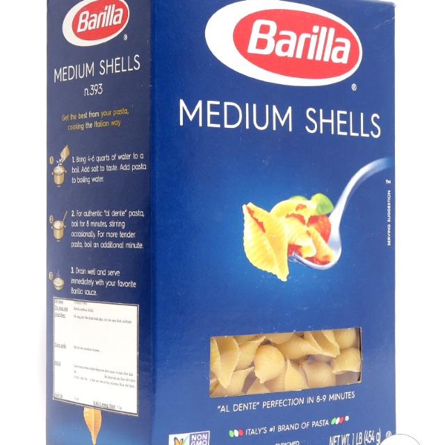 Nui Hình Sò Barilla Medium Shells Italy 454 G