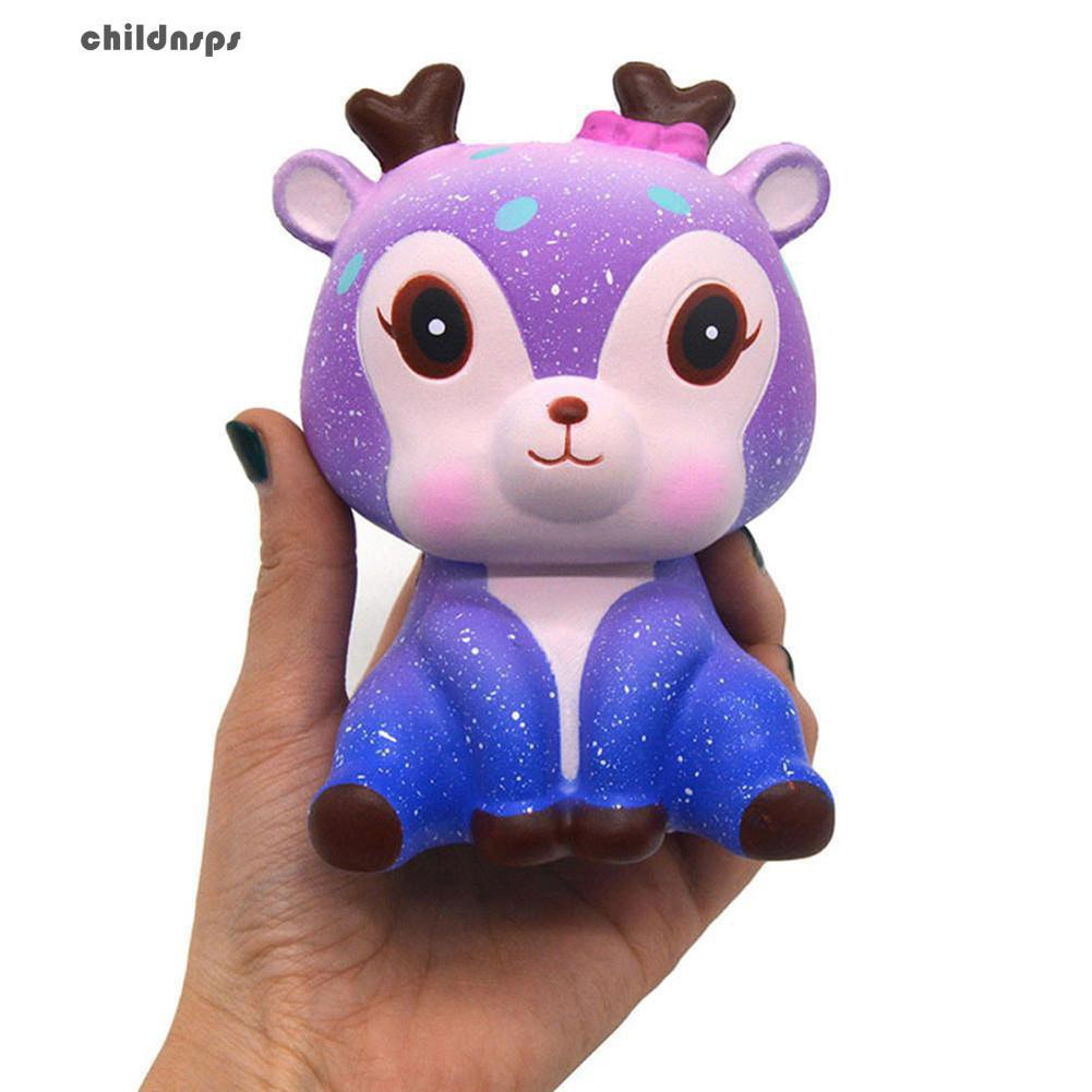 xGalaxy Cute Deer Squishy Slow Rising Kids Adults Squeeze Toys Stress Relieveru H717 t184 Sspring come
